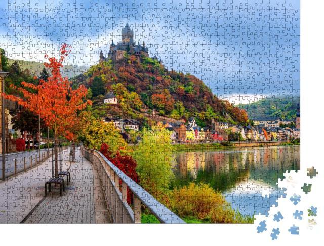 """Puzzle 1000 Teile """"Historische Stadt Cochem an der Mosel im Herbst, Rheinland-Pfalz, Deutschland"""""""