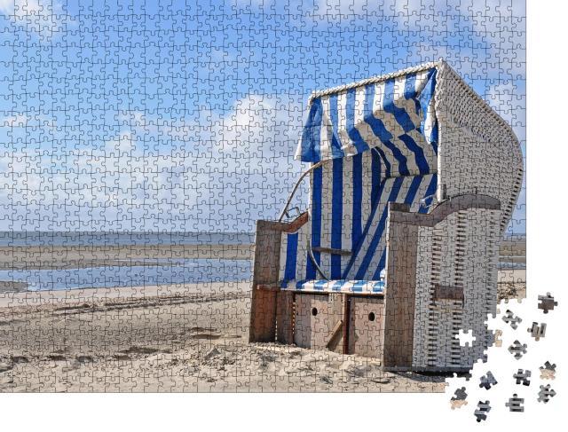 """Puzzle 1000 Teile """"Sandkorb auf Föhr, Schleswig-Holstein, Deutschland"""""""