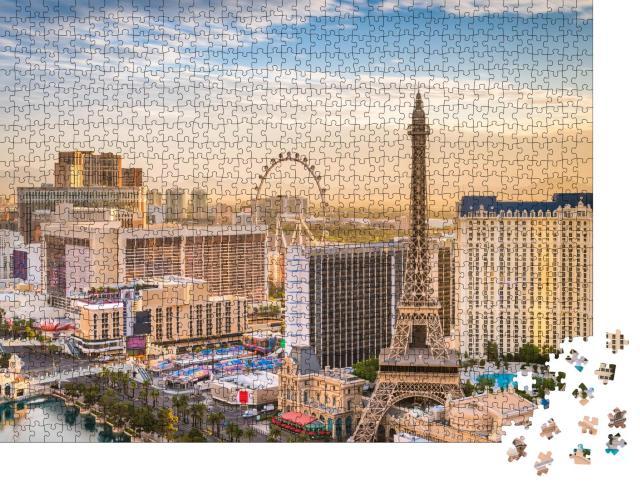 """Puzzle 1000 Teile """"Die Skyline von Las Vegas"""""""