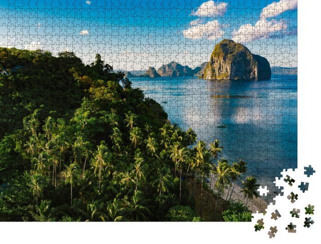 """Puzzle 1000 Teile """"Strand von Las Cabanas, Provinz Palawan, Philippinen"""""""