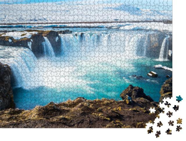 """Puzzle 1000 Teile """"Godafoss, einer der berühmtesten Wasserfälle in Island"""""""