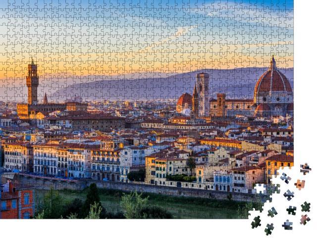 """Puzzle 1000 Teile """"Blick auf Florenz im Sonnenuntergang, Italien"""""""