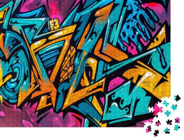"""Puzzle 1000 Teile """"Graffiti an den Wänden der Stadt"""""""