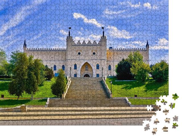 """Puzzle 1000 Teile """"Lubliner Schloss: Haupteingang im neugotischen Stil"""""""