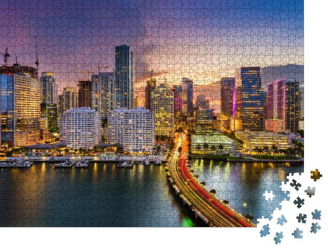 """Puzzle 1000 Teile """"Skyline von Miami, Florida, USA"""""""