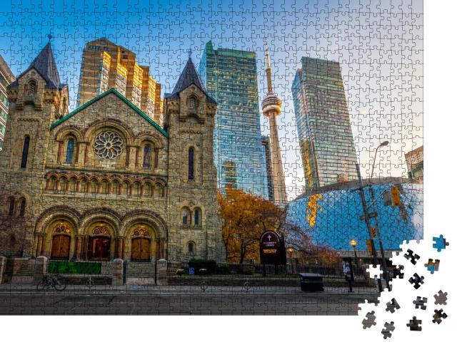 """Puzzle 1000 Teile """"Panoramablick auf die St. Andrew's Presbyterian Church, Toronto, Ontario, Kanada"""""""