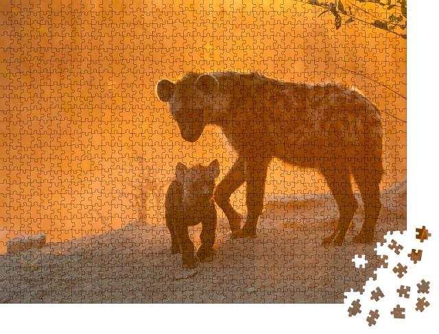 "Puzzle 1000 Teile ""Hyänen"""