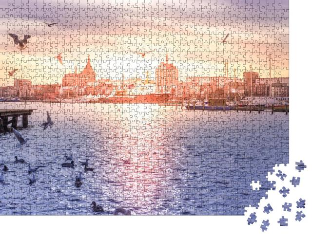 """Puzzle 1000 Teile """"Rockstock am Morgen, Deutschland"""""""