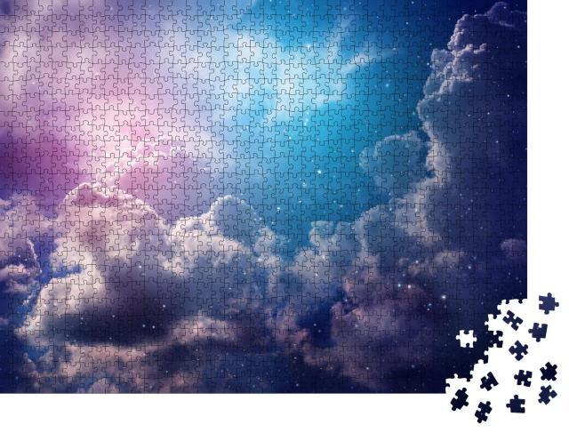 """Puzzle 1000 Teile """"Nachthimmel mit Wolken und Sternen"""""""