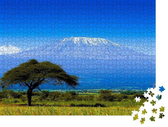 """Puzzle 1000 Teile """"Kilimandscharo auf afrikanischer Savanne"""""""
