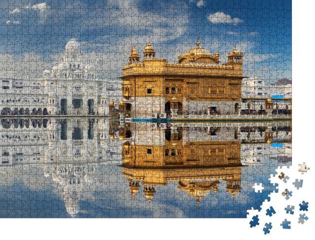 "Puzzle 1000 Teile ""Sikh-Gurdwara: Golden Temple in Punjab, Indien"""
