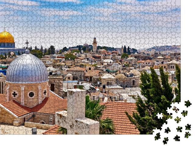 """Puzzle 1000 Teile """"Wunderschöner Blick über Jerusalem, Israel"""""""