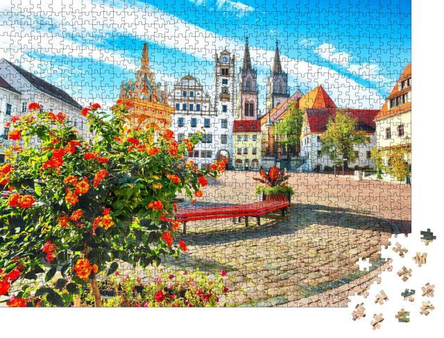 """Puzzle 1000 Teile """"Kirche von Oschatz, Sachsen, Deutschland"""""""