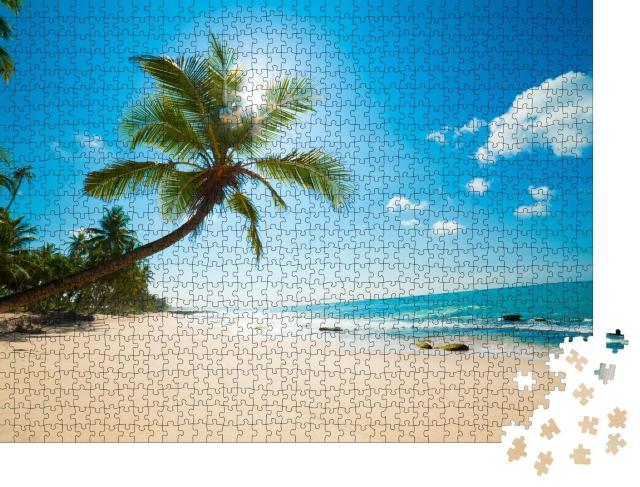 """Puzzle 1000 Teile """"Unberührter tropischer Strand in Sri Lanka"""""""