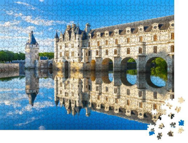 """Puzzle 1000 Teile """"Chateau de Chenonceau im Loire-Tal in Frankreich"""""""