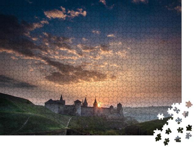 """Puzzle 1000 Teile """"Festung Kamyanets-Podilskiy, Ukraine"""""""