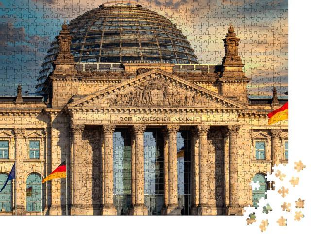 """Puzzle 1000 Teile """"Der Reichstag, Sitz des Deutschen Bundestages in Berlin"""""""
