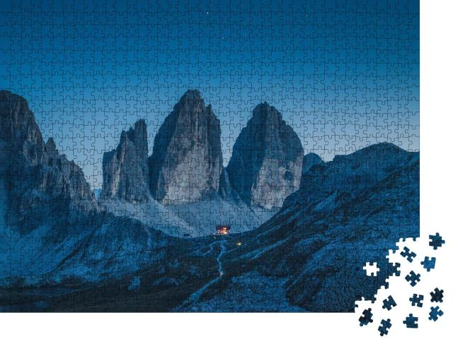 """Puzzle 1000 Teile """"Schöner Blick auf die berühmten Drei Zinnen, Südtirol, Italien"""""""