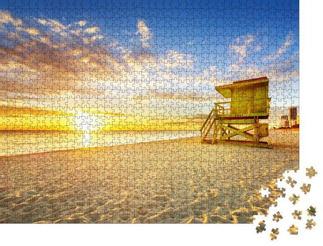 """Puzzle 1000 Teile """"Sonnnaufgang am South Beach, Miami, Florida"""""""