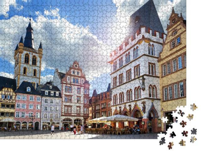 """Puzzle 1000 Teile """"Trier, Marktplatz mit Steipe im Stadtzentrum der antiken Römerstadt"""""""