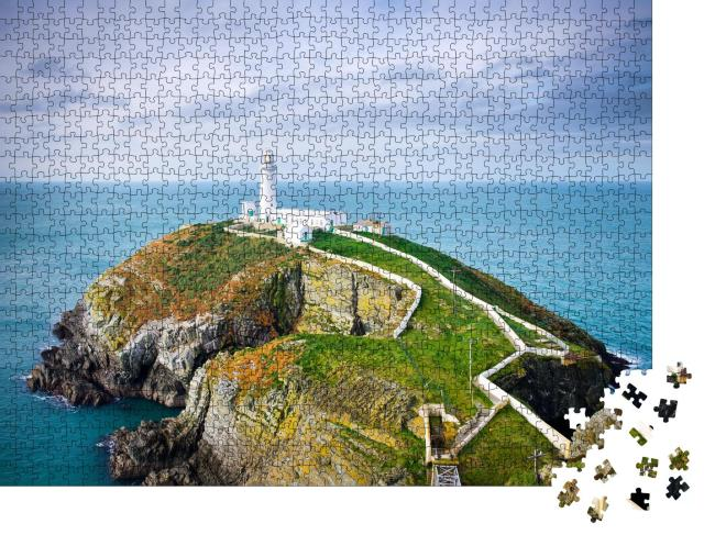 """Puzzle 1000 Teile """"South Stack Leuchtturm in Anglesey, Wales, Großbritannien"""""""