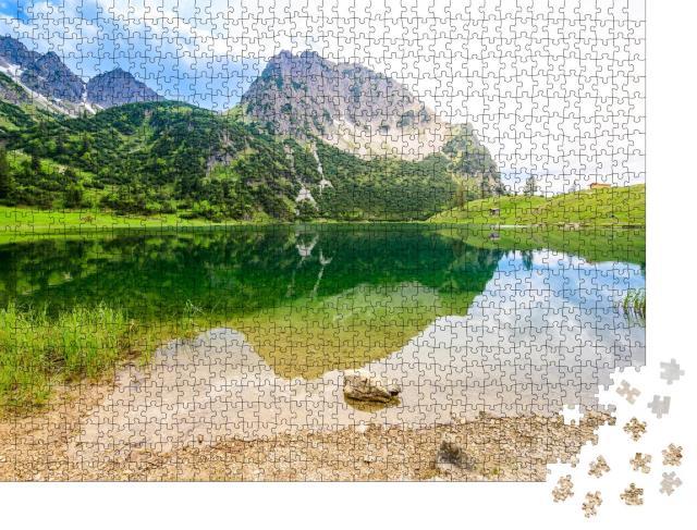 """Puzzle 1000 Teile """"Gaisalpsee und Rubihorns bei Oberstdorf, Deutschland"""""""