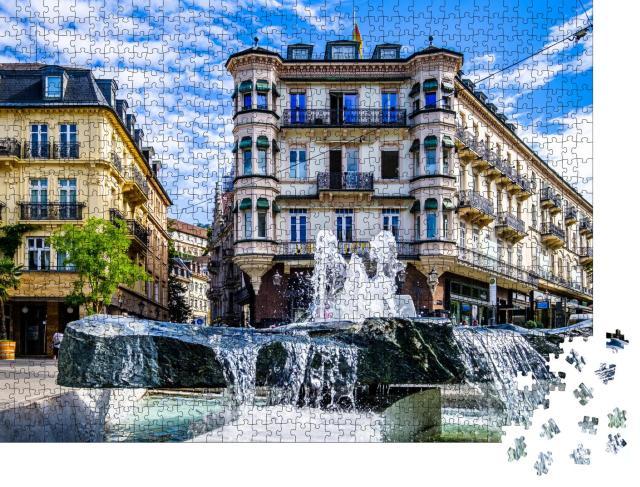 """Puzzle 1000 Teile """"Malerische Altstadt von Baden-Baden, Deutschland"""""""