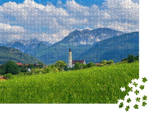 """Puzzle 1000 Teile """"Pfronten im Allgäu, Allgäu, Deutschland"""""""