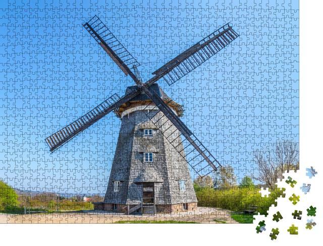 """Puzzle 1000 Teile """"Holländerwindmühle von Benz auf der Insel Usedom, Ostsee, Deutschland"""""""