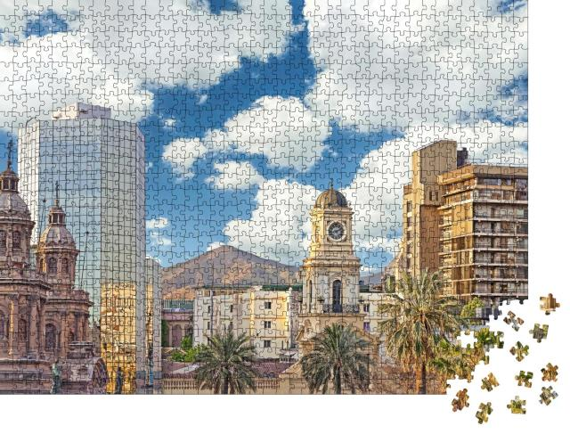 "Puzzle 1000 Teile "" Stadtzentrum von Santiago de Chile"""