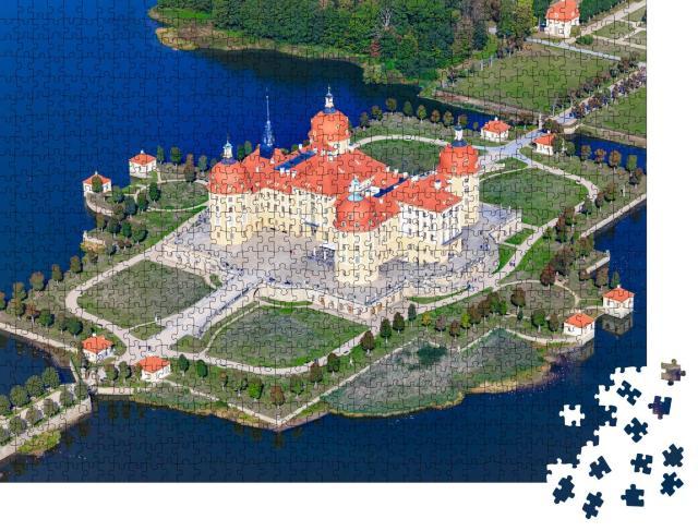 """Puzzle 1000 Teile """"Luftaufnahme von Schloss Moritzburg, Sachsen, Deutschland"""""""