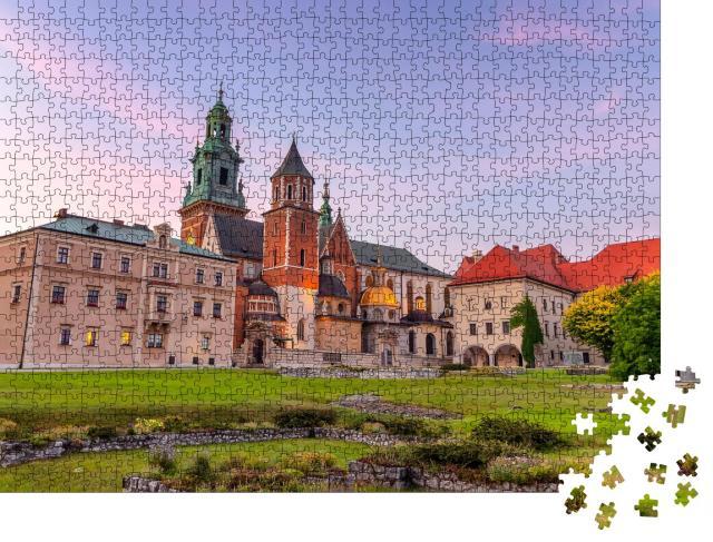 """Puzzle 1000 Teile """"Kathedrale von St. Stanislaw und St. Vaclav, Wawel-Hügel, Krakau, Polen"""""""