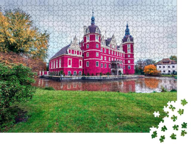 """Puzzle 1000 Teile """"Wunderschönes Schloss Muskau, UNESCO-Weltkulturerbe, Deutschland"""""""