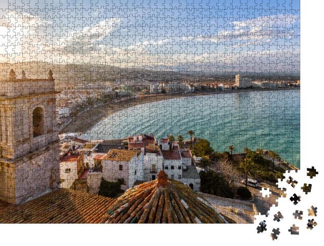 """Puzzle 1000 Teile """"Romantische Küstenstadt, Valencia, Spanien"""""""