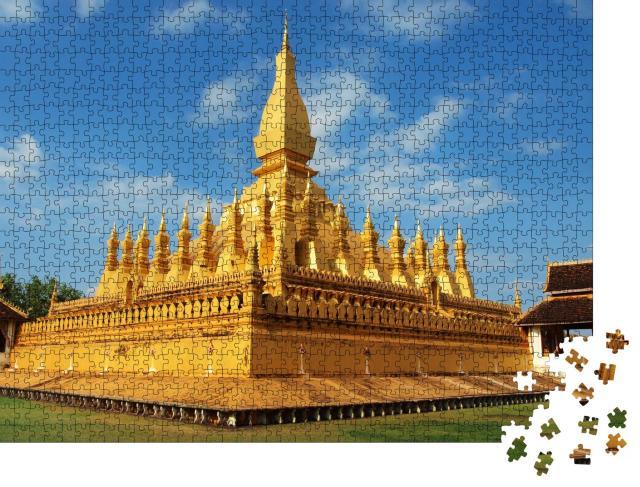 """Puzzle 1000 Teile """"Pha That Luang-Tempel in Vientiane, Laos"""""""