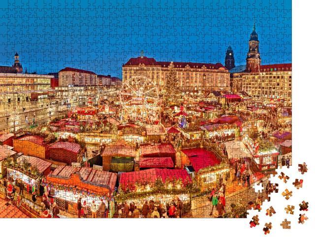 """Puzzle 1000 Teile """"Dresden in der Weihnachtszeit, Deutschland"""""""