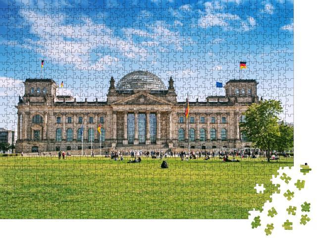 """Puzzle 1000 Teile """"Das Reichstagsgebäude in Berlin"""""""