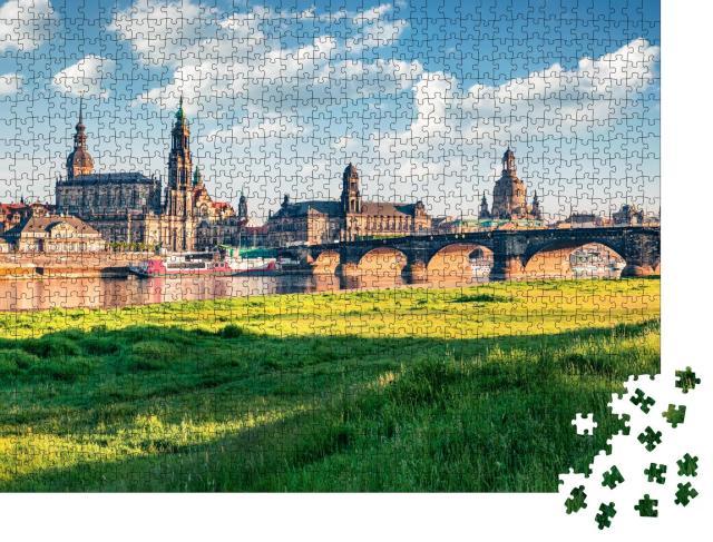 """Puzzle 1000 Teile """"Herrliches Stadtbild von Dresden, Sachsen, Deutschland"""""""