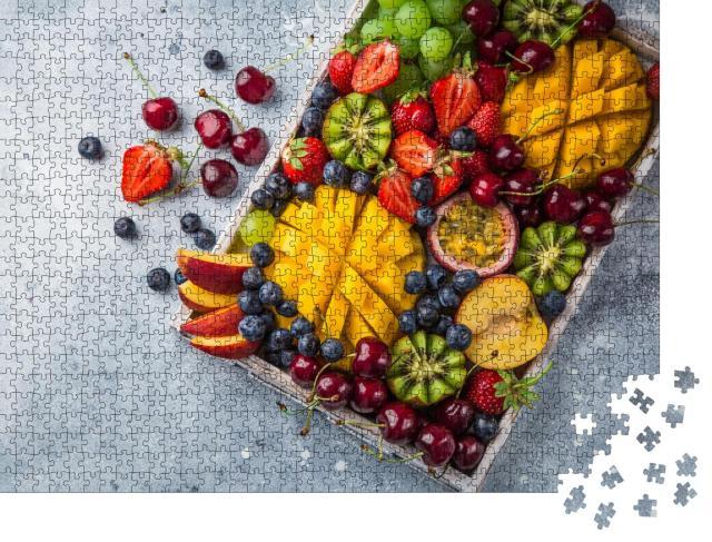 """Puzzle 1000 Teile """"Mango, Kiwi, Erdbeeren: Früchte und Beeren"""""""