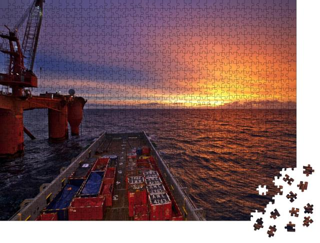 """Puzzle 1000 Teile """"Nordsee, Offshore"""""""