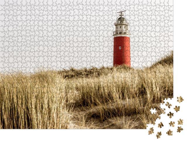 """Puzzle 1000 Teile """"Berühmter roter Leuchtturm der niederländischen Insel Texel"""""""