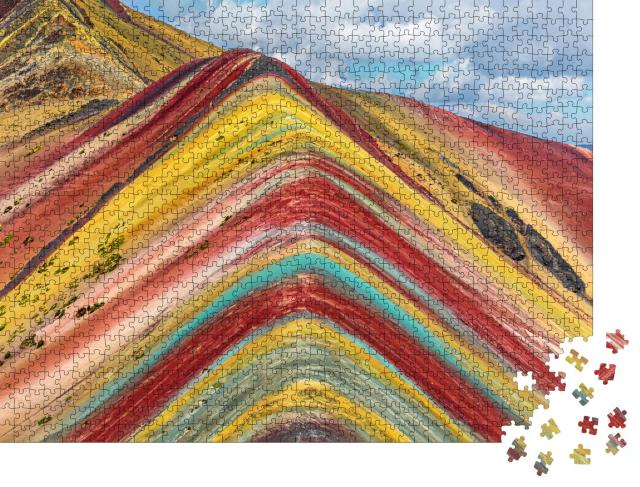 "Puzzle 1000 Teile ""Region Cusco, Peru: Regenbogenberg, Montana de Siete Colores"""