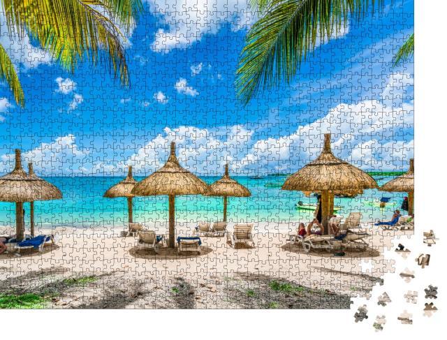 """Puzzle 1000 Teile """"Strandparadies auf Mauritius """""""