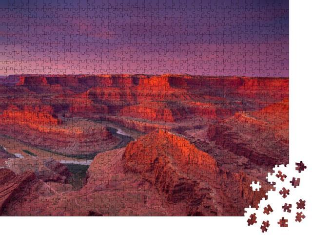 """Puzzle 1000 Teile """"Wunderschöne Aussicht auf Dead Horse Point im Sonnenaufgang, USA"""""""