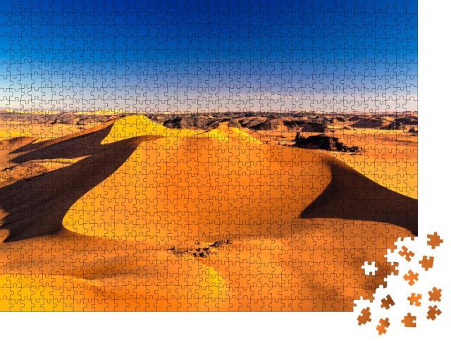 """Puzzle 1000 Teile """"Sonnenuntergang im Tassili nAjjer-Nationalpark, Algerien"""""""