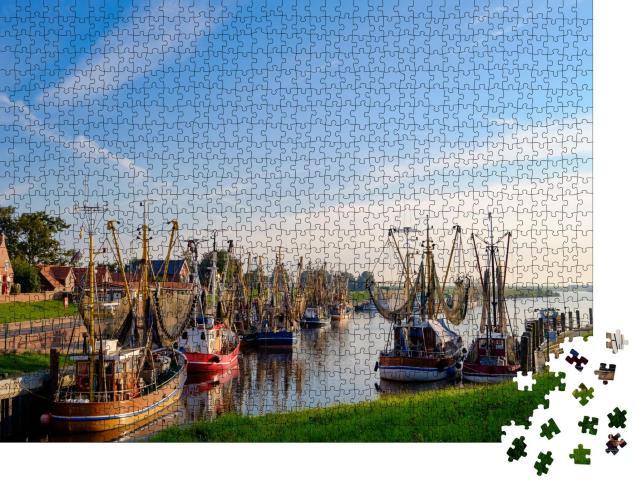 """Puzzle 1000 Teile """"Hafen von Greetsiel, Deutschland"""""""