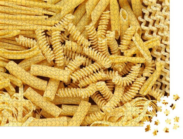 """Puzzle 1000 Teile """"Verschiedene Arten und Formen von italienischer Pasta"""""""