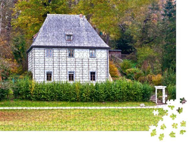 """Puzzle 1000 Teile """"Das Gartenhaus von Johann Wolfgang von Goethe in Weimar, Deutschland"""""""