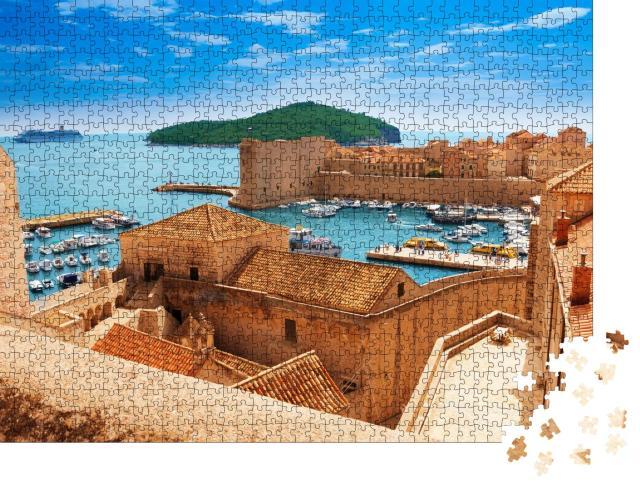 """Puzzle 1000 Teile """"Hafen von Dubrovnik von den alten Stadtmauern"""""""