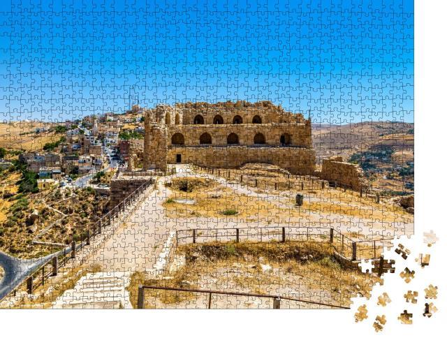 """Puzzle 1000 Teile """"Mittelalterliche Kreuzritterburg von Al Karak, Jordanien"""""""